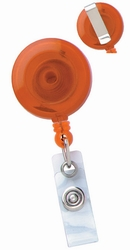 Badge Reel - Round, Translucent